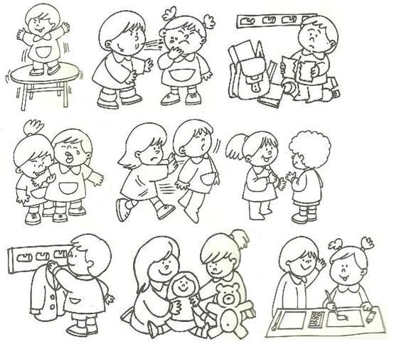 Dibujos Para Colorear De Acciones Buenas Y Malas