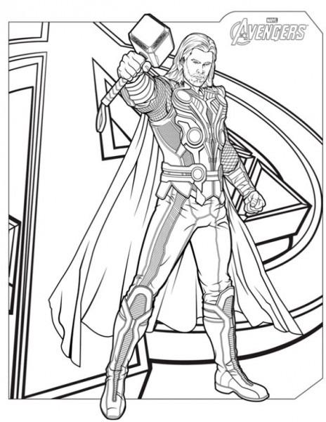 Dibujos De Los Vengadores Para Imprimir Y Colorear