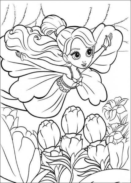Dibujos Para Colorear Barbie Pulgarcita 1