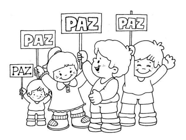 Dibujos Para Colorear En El Día De La Paz Y La No Violencia [+