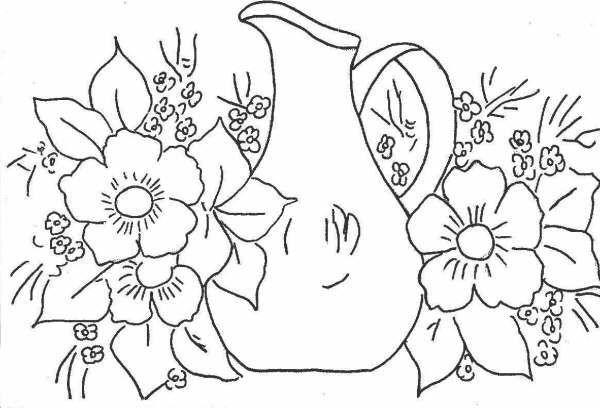 Dibujos De Canastas De Flores Para Bordar