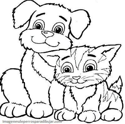 Dibujos Infantiles De Perros Y Gatos Juntos En Caricaturas