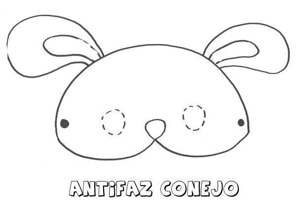 Antifaz De Conejo  Dibujos Para Colorear Con Los Niños