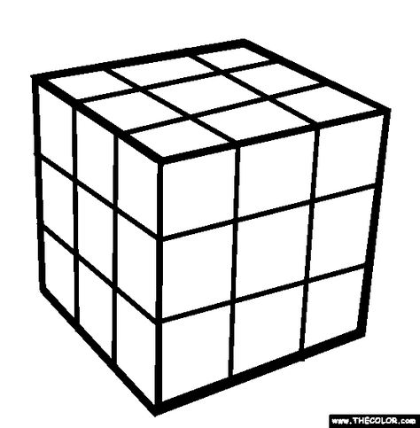 Rubiks Cube Coloring Page