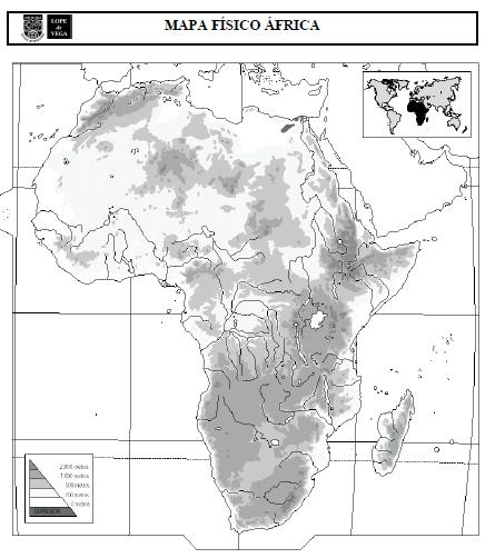 Mapas FÍsico Y PolÍtico De África