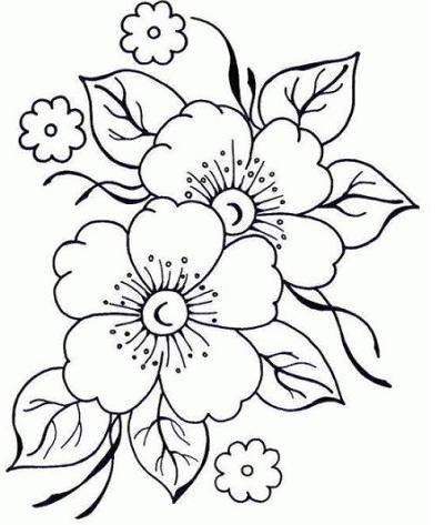 Imagenes De Flores Lindas Para Colorear