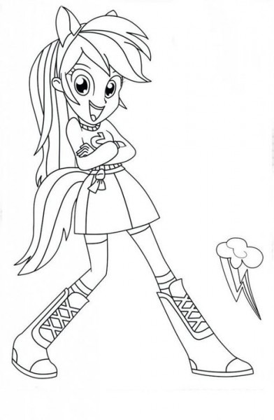 My Little Pony Equestria Girls Para Pintar E Imprimir