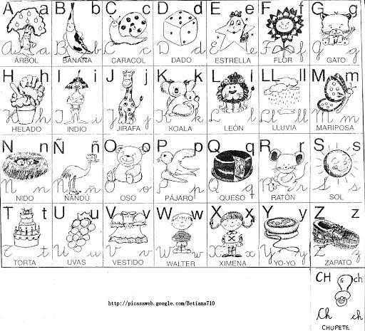 Alfabetos Ilustrados Para Imprimir Y Colorear