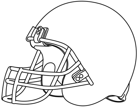 Dibujo De Casco De Fútbol Americano Para Colorear
