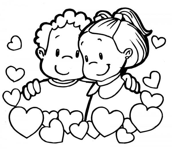 Dibujos Para Colorear De Amor Y Amistad