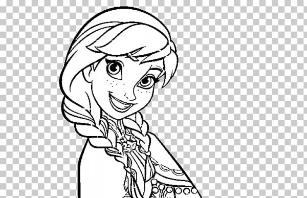 Anna Elsa Olaf Libro Para Colorear Dibujo, Anna Elsa Olaf Png