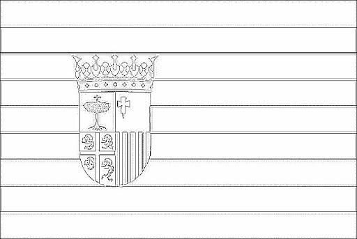 Bandera De Aragon Para Colorear