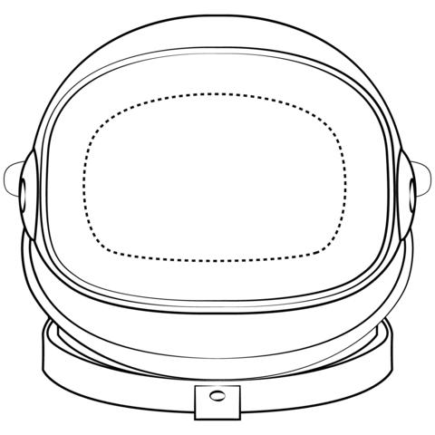 Dibujo De Máscara De Astronauta Para Colorear