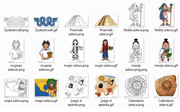Dibujos Para Colorear Sobre Los Aztecas