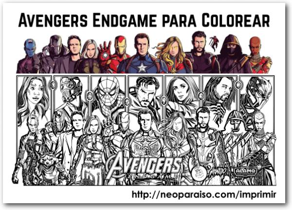Vegadores Para Pintar  Avengers Para Descargar Gratis Y Colorear