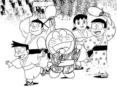 Doraemon Y Sus Amigos En Una Fiesta Japonesa (blog De Los Niños