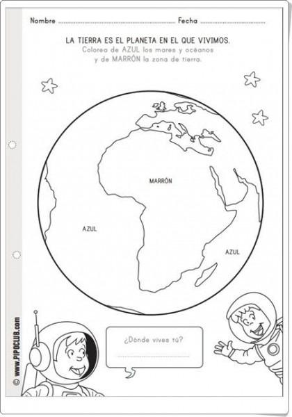 Recursos Didácticos Para Imprimir, Ver, Leer   La Tierra Es El