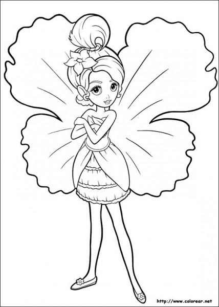 Dibujos Para Colorear De Barbie Pulgarcita