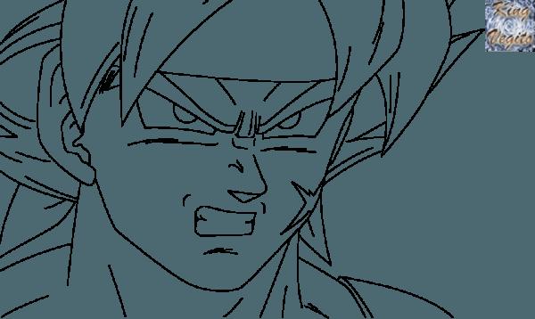 Bardock Y Goku Super Sayayin Para Colorear