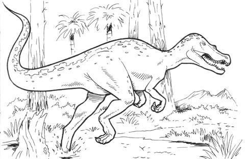 Baryonyx Dinosaur Coloring Page