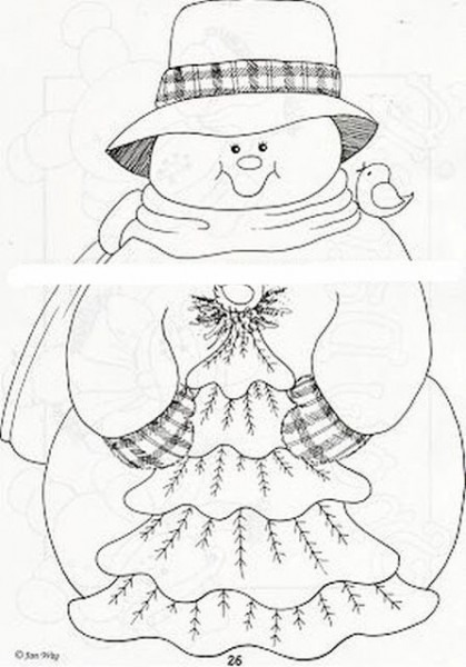 Dibujos Para Colorear De Mu?ecos De Nieve En Navidad