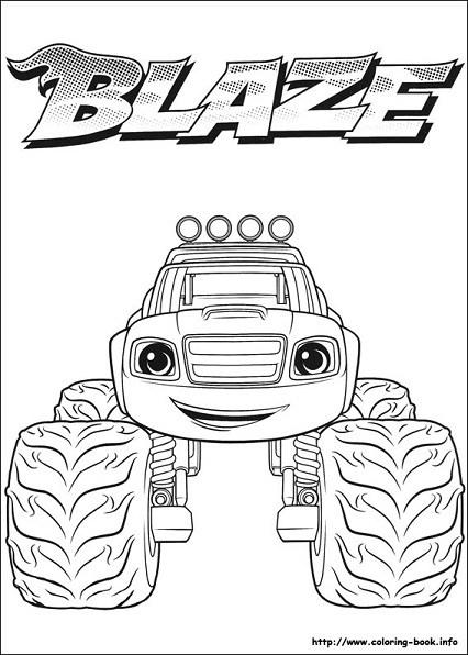 Dibujos Para Colorear De Blaze And The Monsters Machine