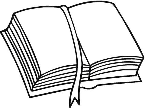 Dibujo De Marcador De Libros Para Colorear