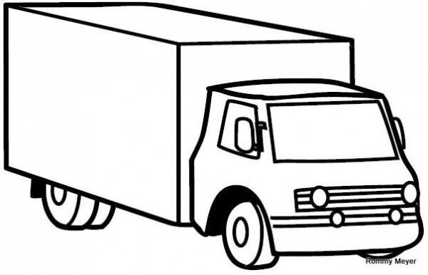Imagenes De Camiones De Carga Para Colorear