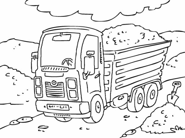 Camion De Carga Para Imprimir