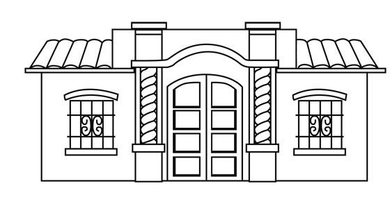 Fachada De Casas Para Dibujar