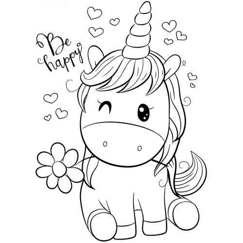 Dibujos De Unicornios En Colorear «【 Dibujos De Unicornios Para