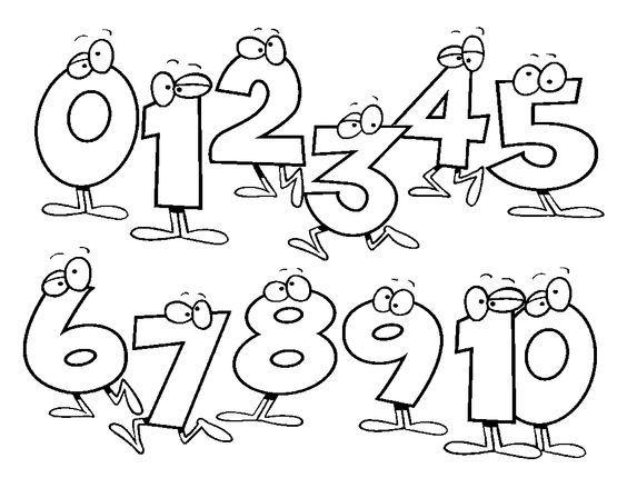 Burradas  Los Mejores Dibujos Para Colorear Números