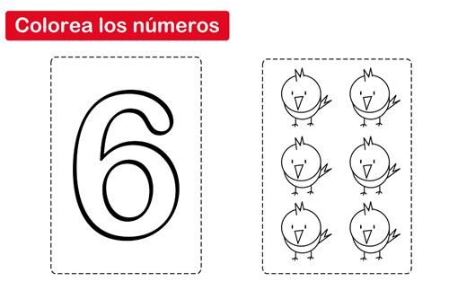 Colorear El Número 6