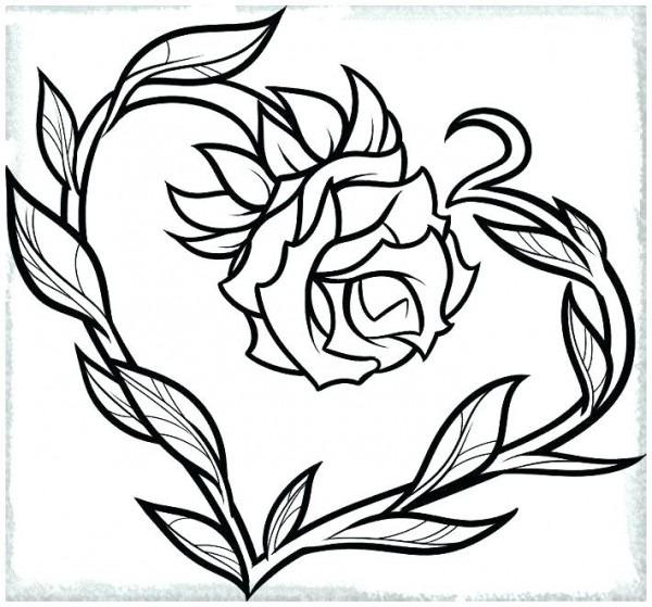 Imprimible] Rosas Con Corazones Para Colorear