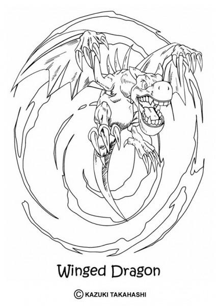 Dibujos Para Colorear Winged Dragon Con Alas