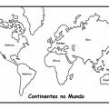 Dibujos Para Colorear De Los Continentes