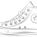 Dibujos Para Colorear De Zapatos Tenis