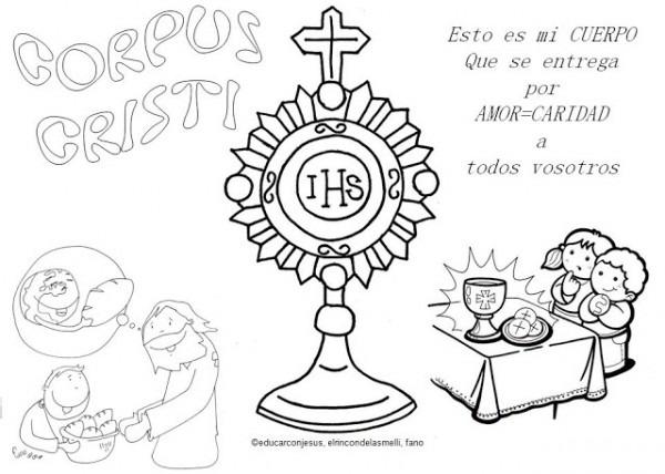 √ Imagenes De Corpus Christi Para Colorear