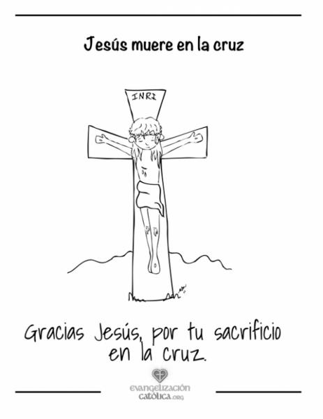 Dibujo De Una Cruz Para Colorear En Semana Santa
