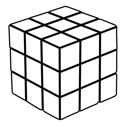 Dibujo Para Colorear De Un Cubo