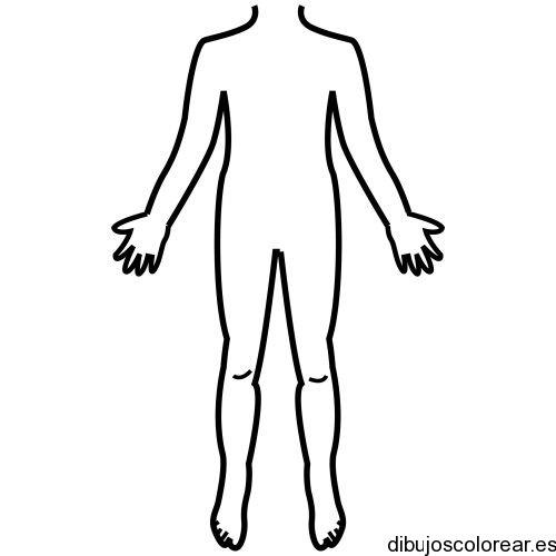 Dibujo De Una Silueta Del Cuerpo Humano