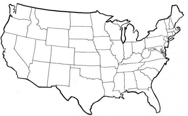 Resultado De Imagen Para Mapa De Estados Unidos Para Colorear E