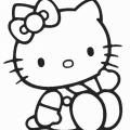 Hello Kitty Para Colorear Online