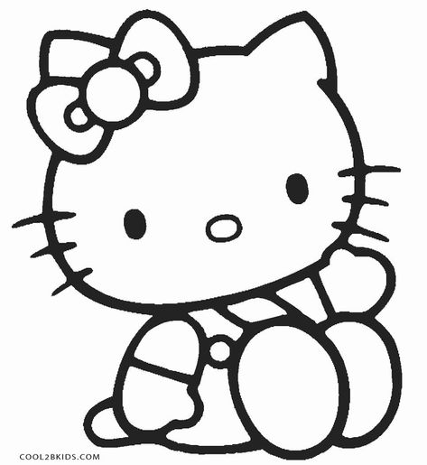 Elegant Picture Of Hello Kitty Color Pages