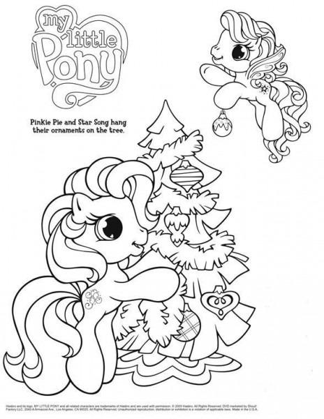 Twinkle Wish My Little Pony Navidad Para Colorear