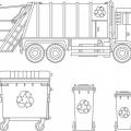 Dibujos Contenedores De Reciclaje Para Colorear