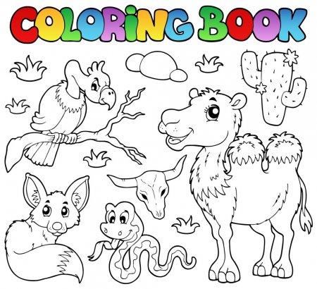 ᐈ Animales Que Viven En El Desierto Para Colorear Imágenes De
