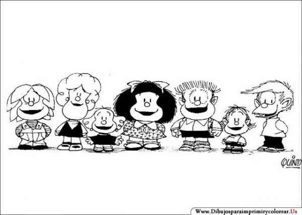 Dibujos De Mafalda Para Imprimir Y Colorear