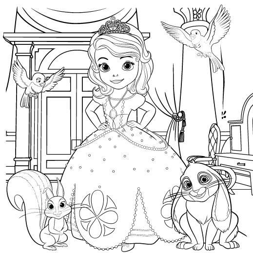 La Princesa Sofia Para Colorear 🥇 𝐃𝐢𝐛𝐮𝐣𝐨𝐬 𝐩𝐚𝐫𝐚