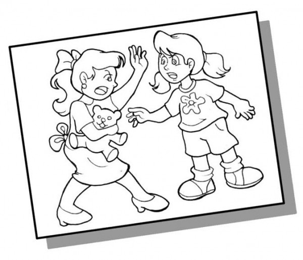 Dibujos Del Bullying Para Colorear